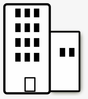 Free Office Building Black And White Clip Art with No.