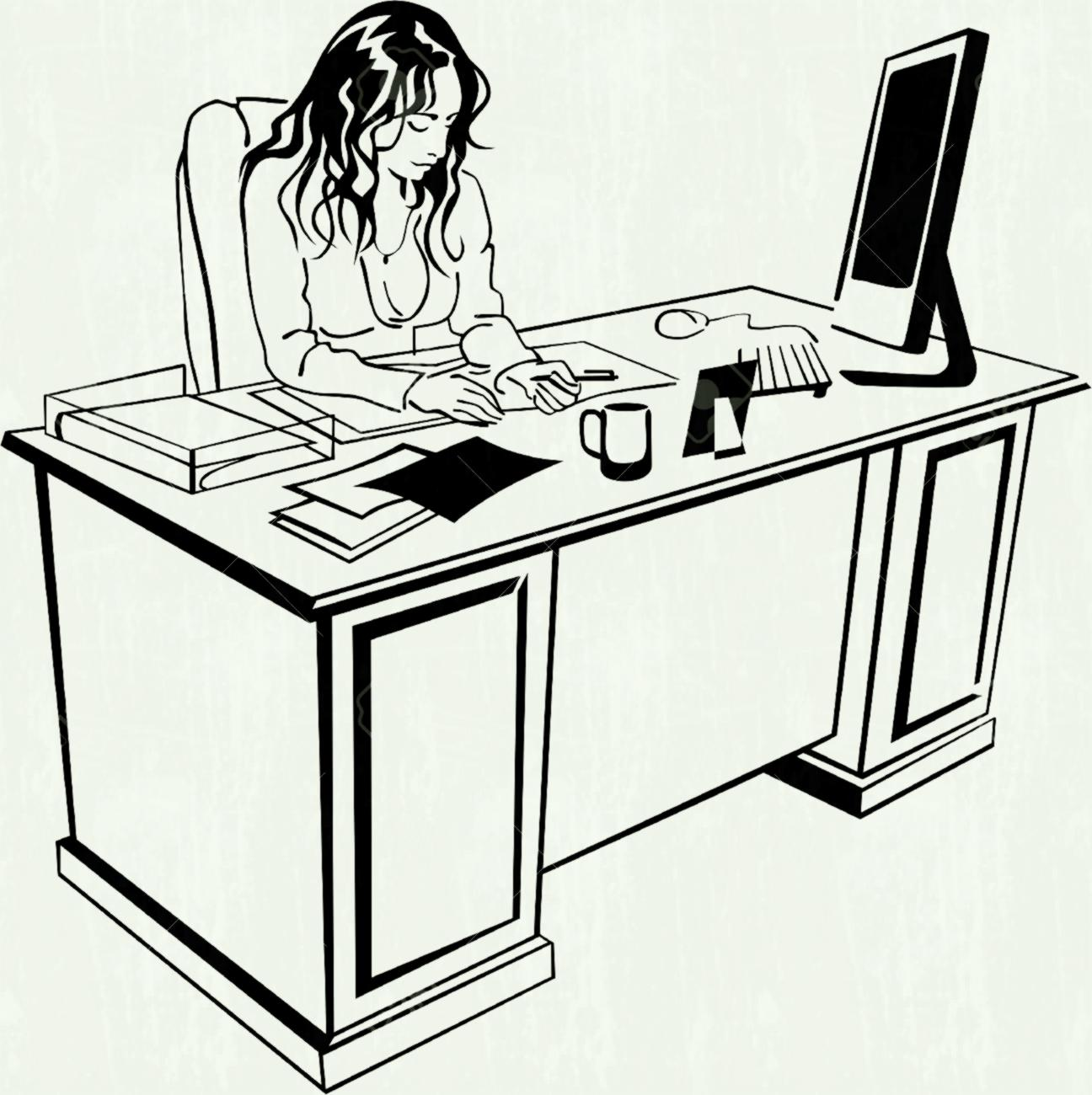Office clipart black and white 1 » Clipart Station.