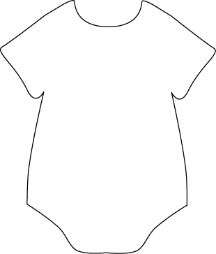 Black and White Onesie Clip Art.