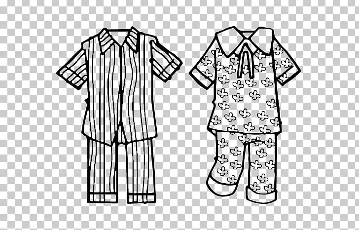 Pajamas Coloring Book Clothing Sleeve Line Art PNG, Clipart.