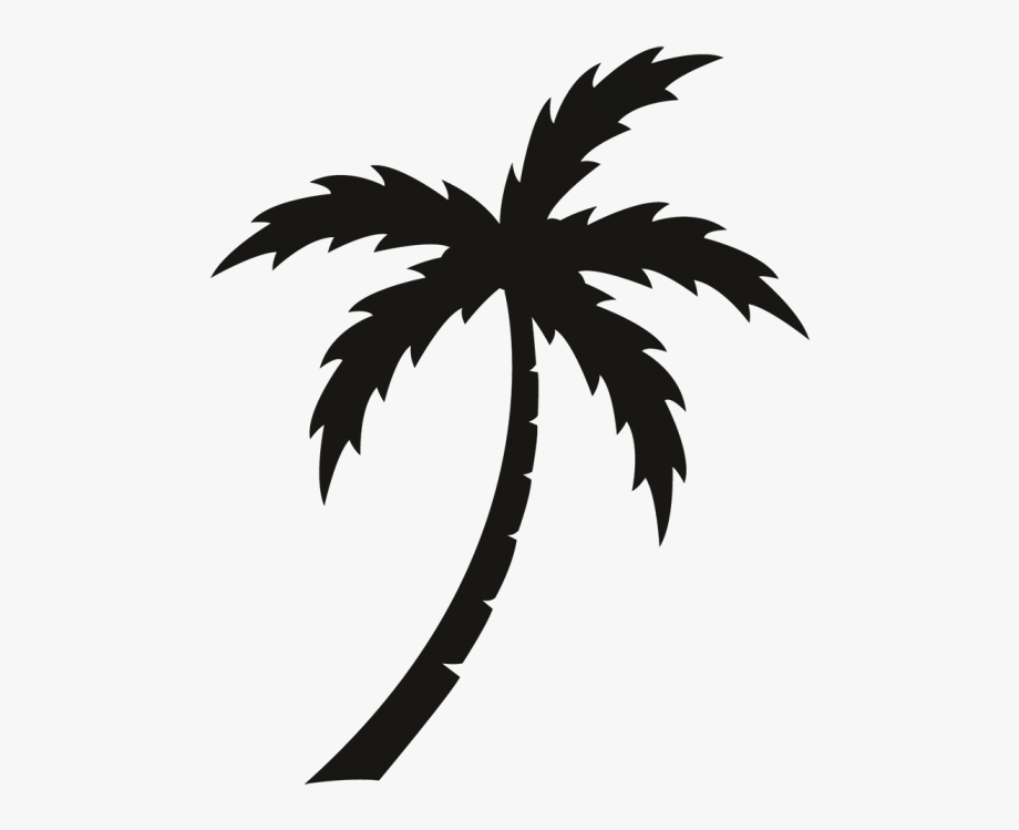 Palm Tree Clipart Black And White For Kids.