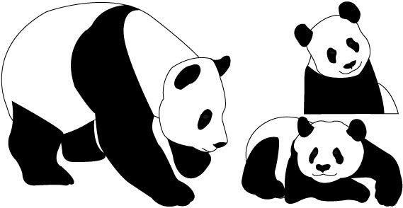 Cute Panda Bear Clipart.