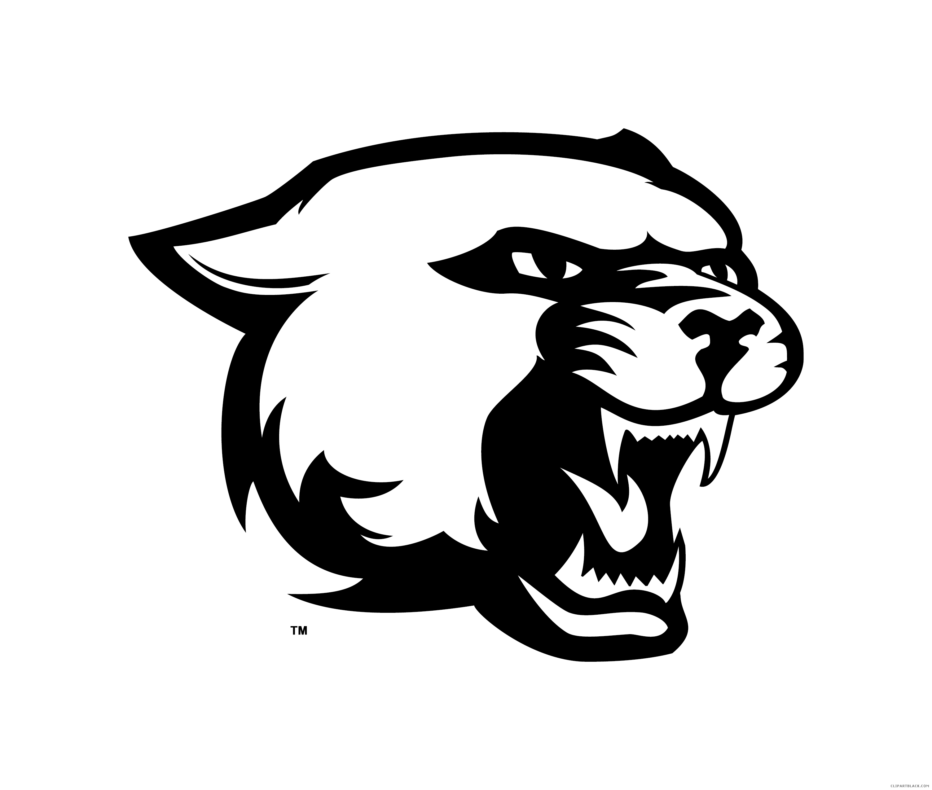 Panther clipart black and white 5 » Clipart Station.