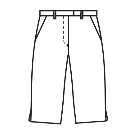 Short Pants Clipart Black And White.