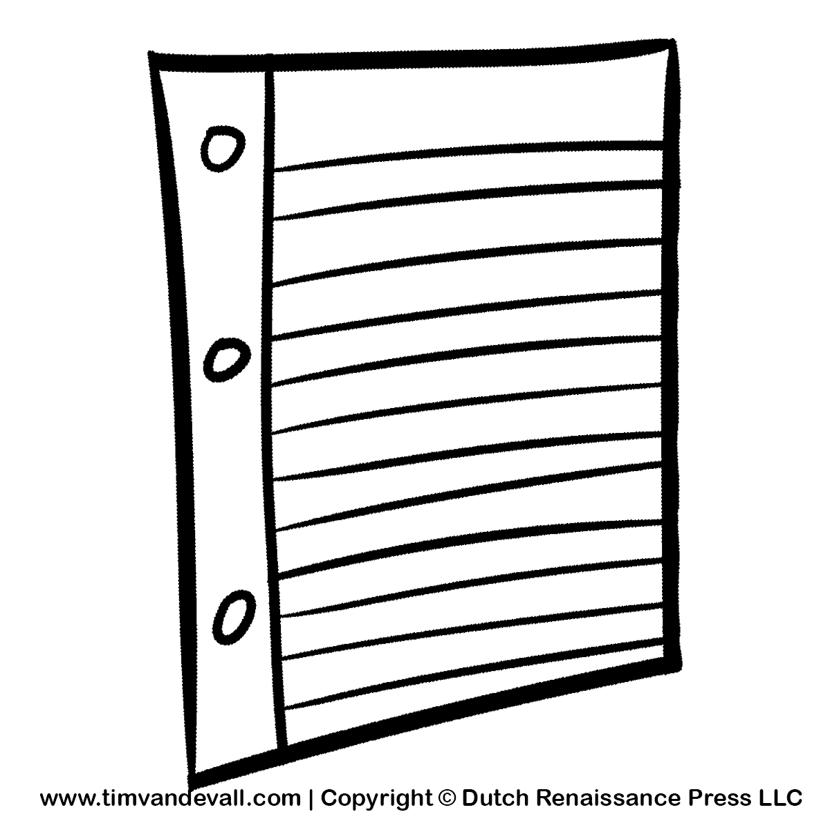 Black And White Paper Clipart.