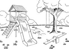 Clipart Of Park Black And White.
