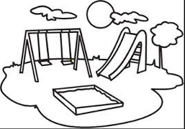 playground clip art black and white.