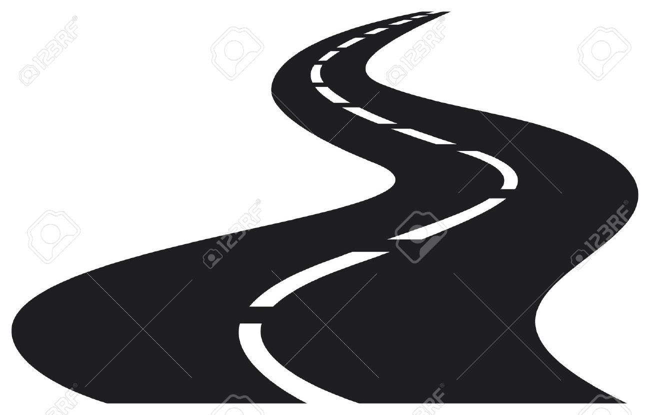 Road Clip Art In Black And White.