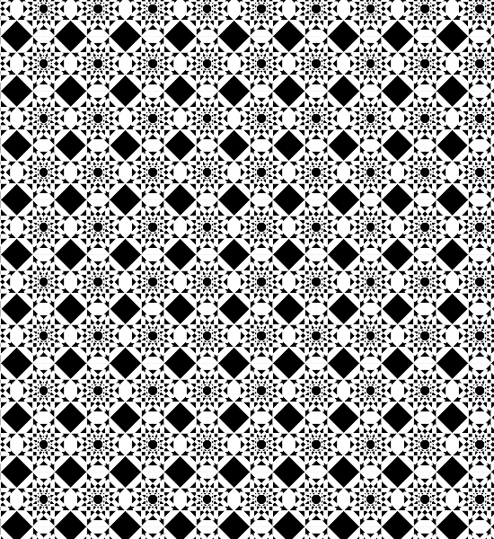 Black And White Free Geometric Abstract Seamless Vector Pattern.