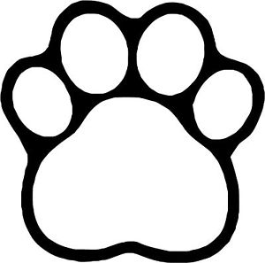 Free Dog Paw Print Clip Art Black And White, Download Free Clip Art.