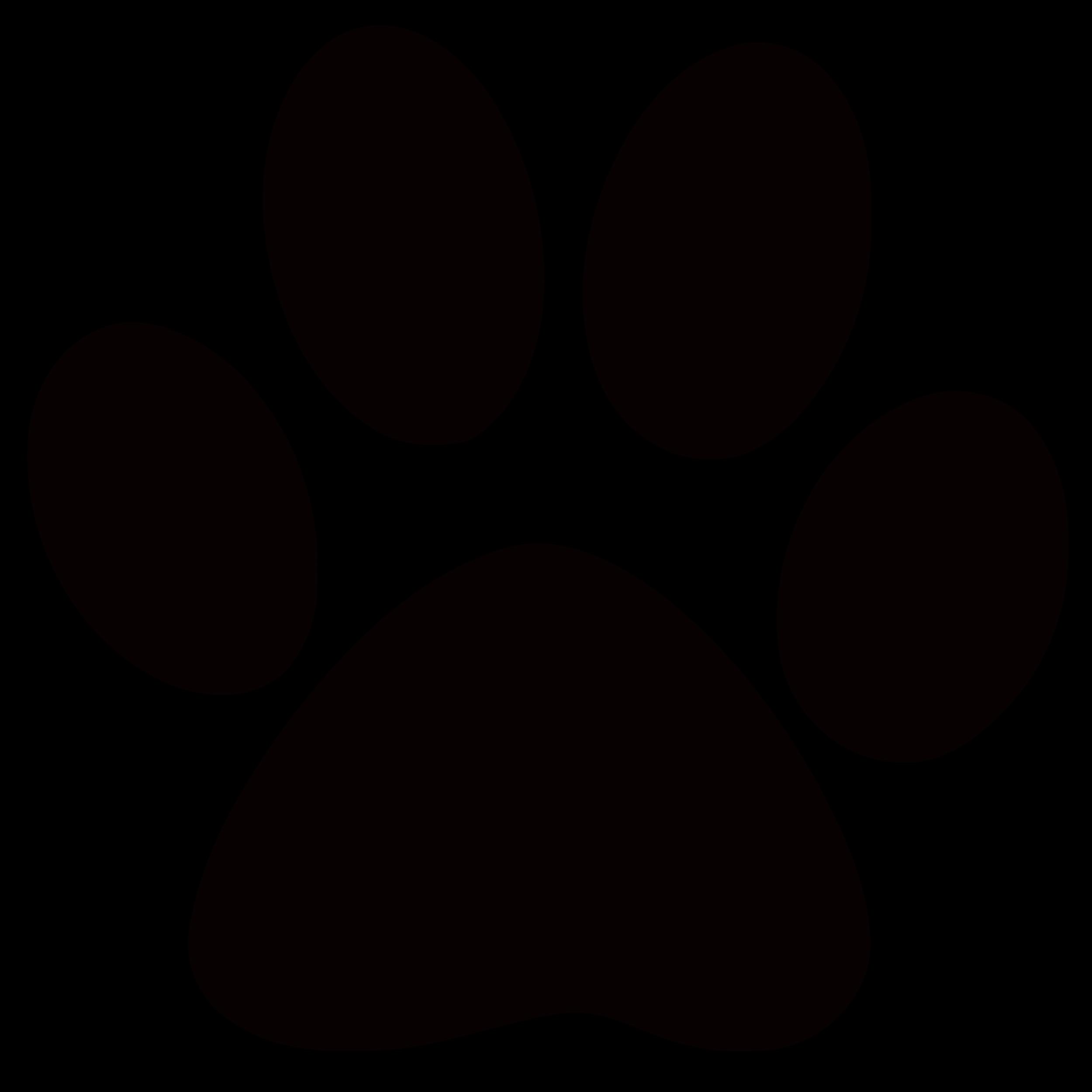 Panther Paw Print Clip Art.