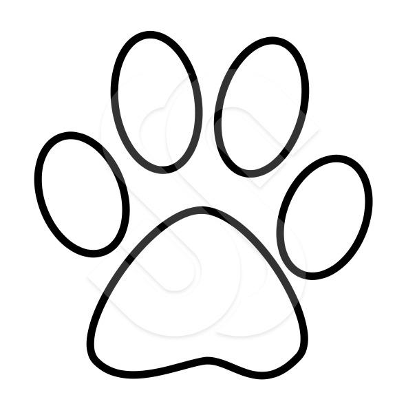 Free White Paw Print, Download Free Clip Art, Free Clip Art.
