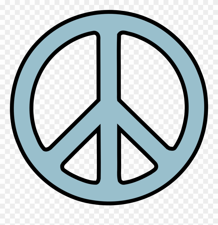 Peace Sign Clip Art Black And White.