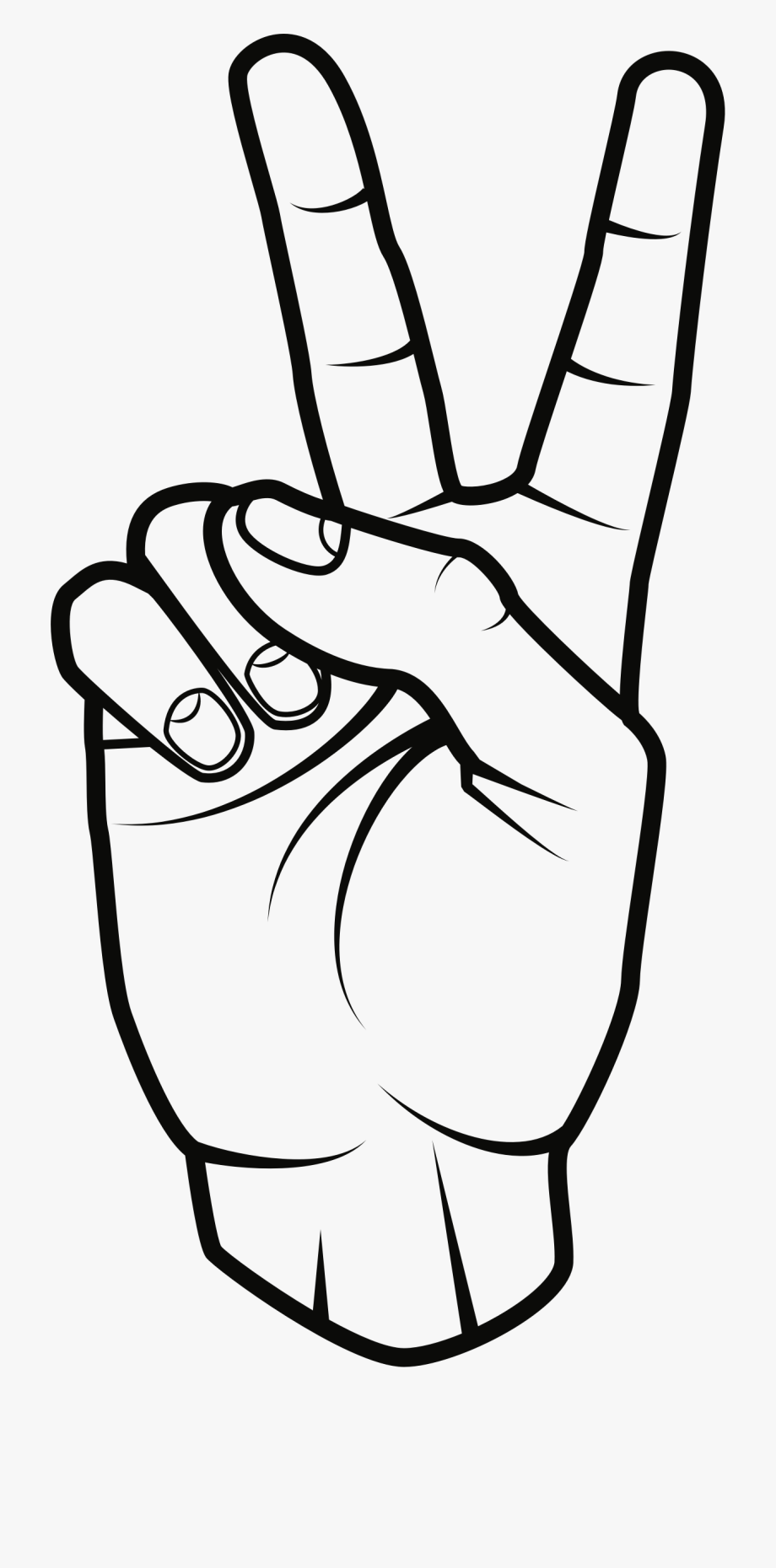 Peace Sign Clipart Black And White.