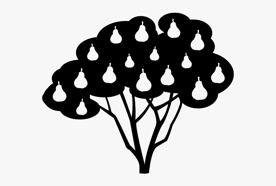Clipart Black And White Pear Tree , Free Transparent Clipart.