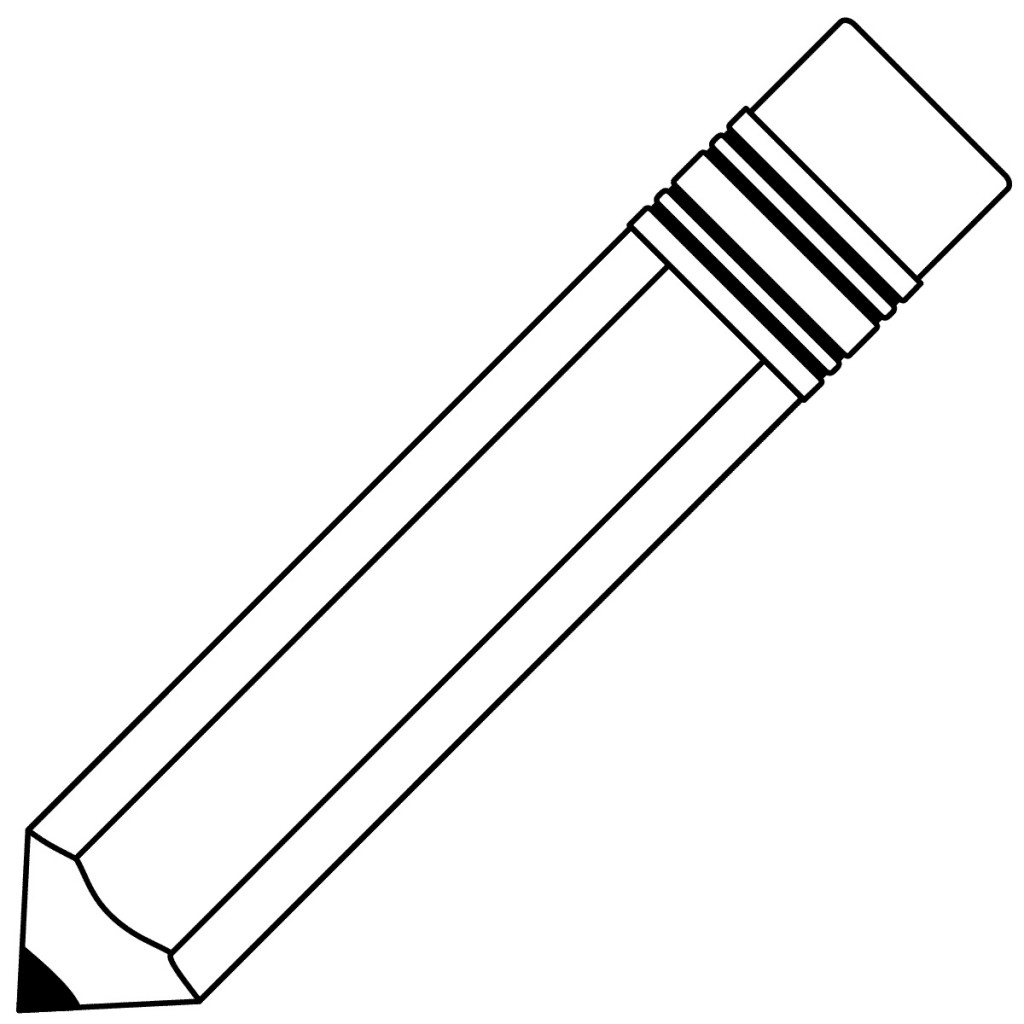 Best Pencil Clipart Black And White #5173.