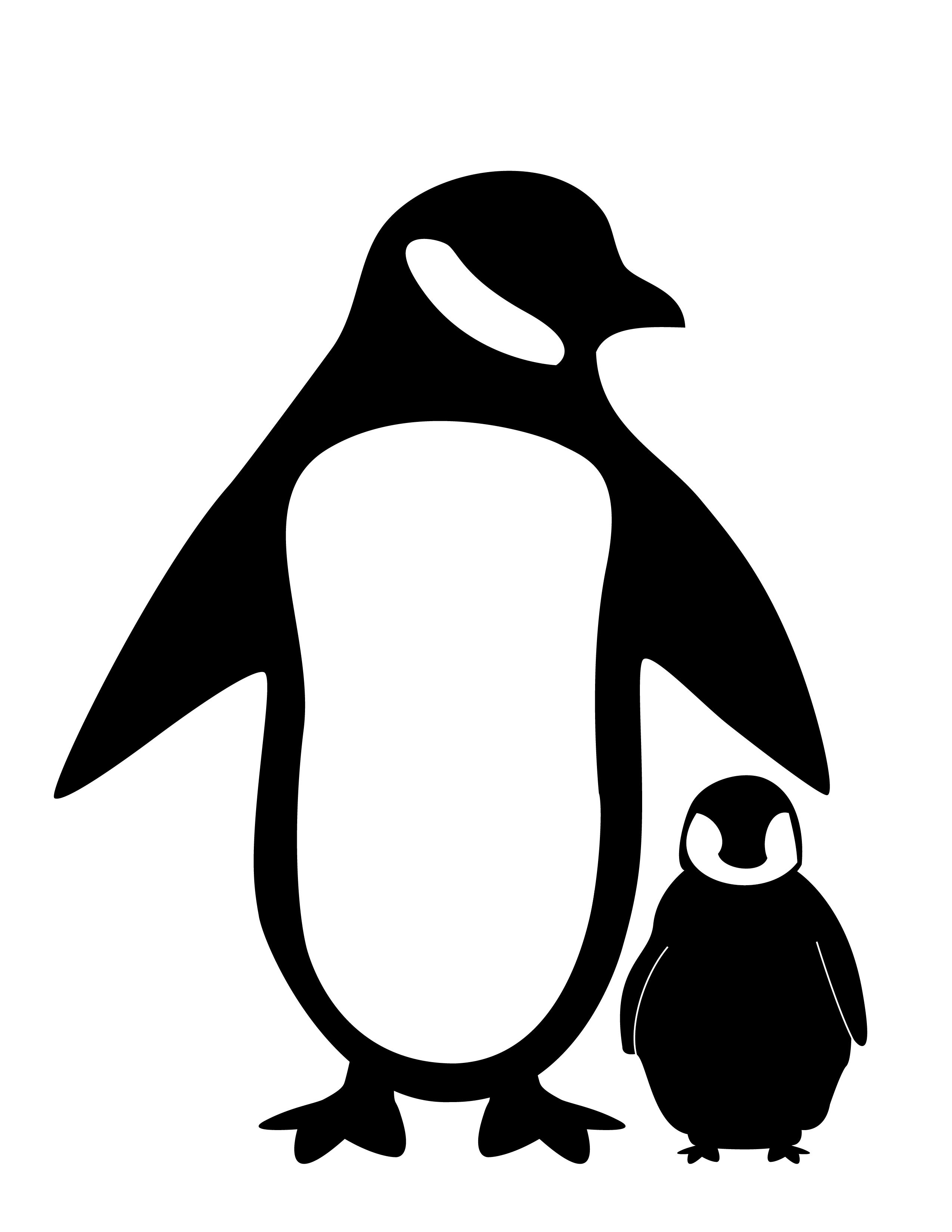 Penguin Silhouette Fc09 deviantart net black white penguin.