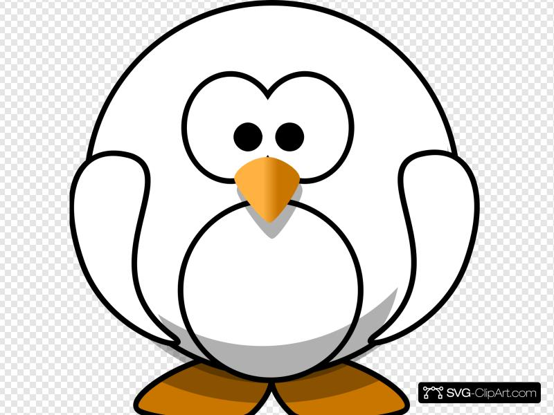 Black And White Penguin Clip art, Icon and SVG.