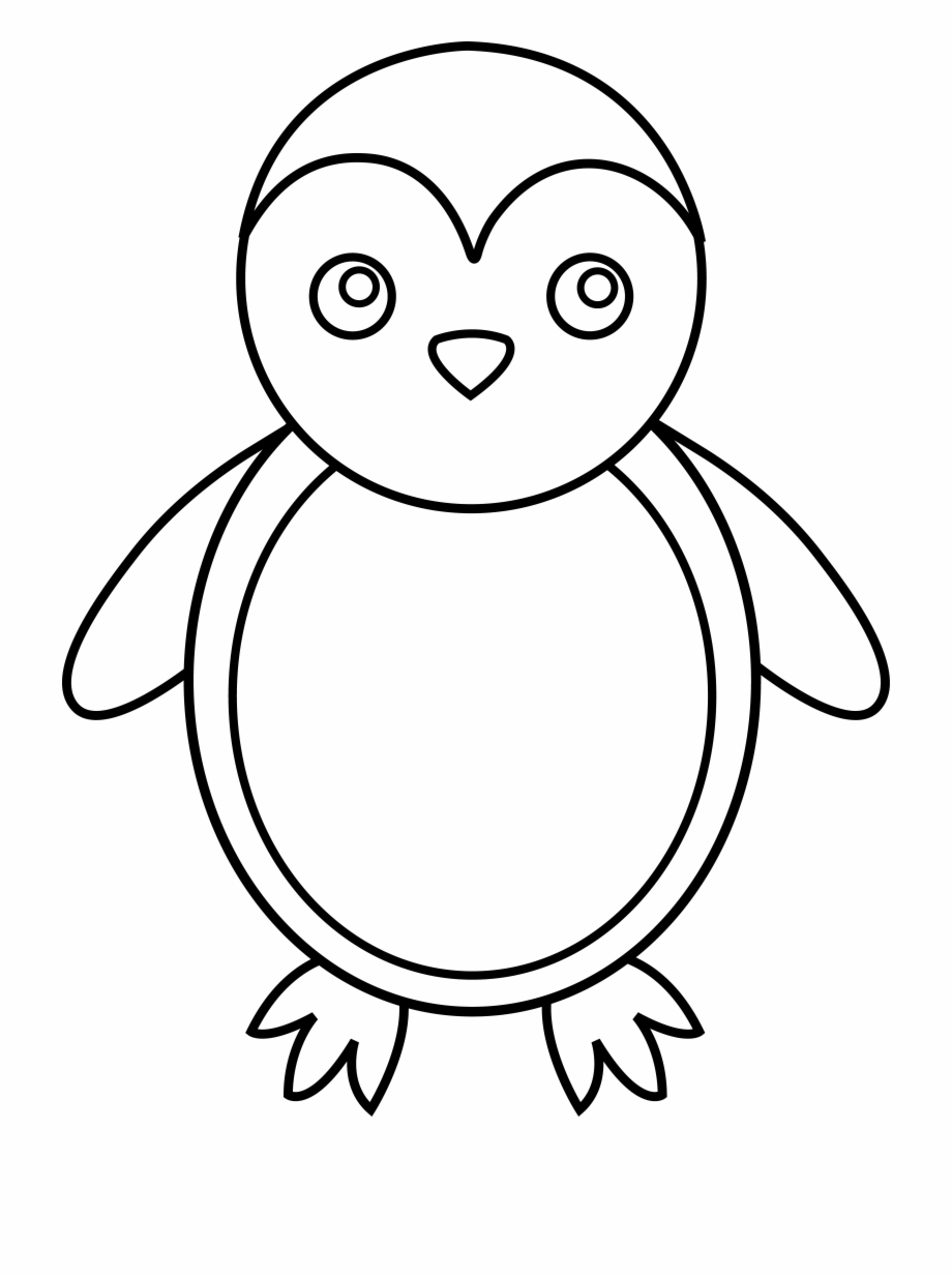 Baby Penguin Clipart Black And.