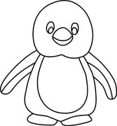 Penguins Clipart Black And White.
