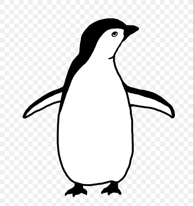 Baby Penguins Black And White Drawing Clip Art, PNG.