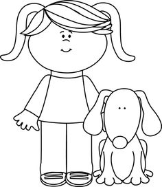 Pet Dog Clipart Black And White.