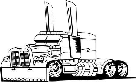 Semi truck clipart black and white 3 » Clipart Station.