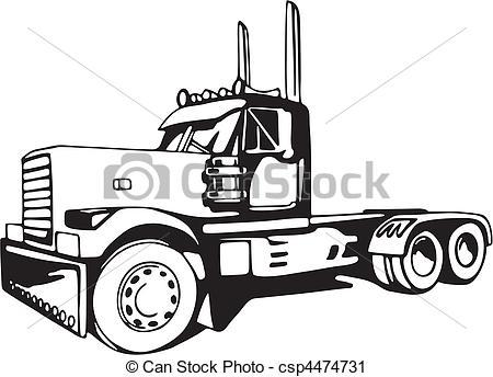 Peterbilt Dump Truck Clipart.