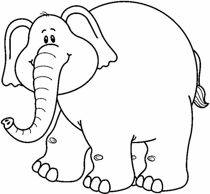Elephant head clipart black and white.
