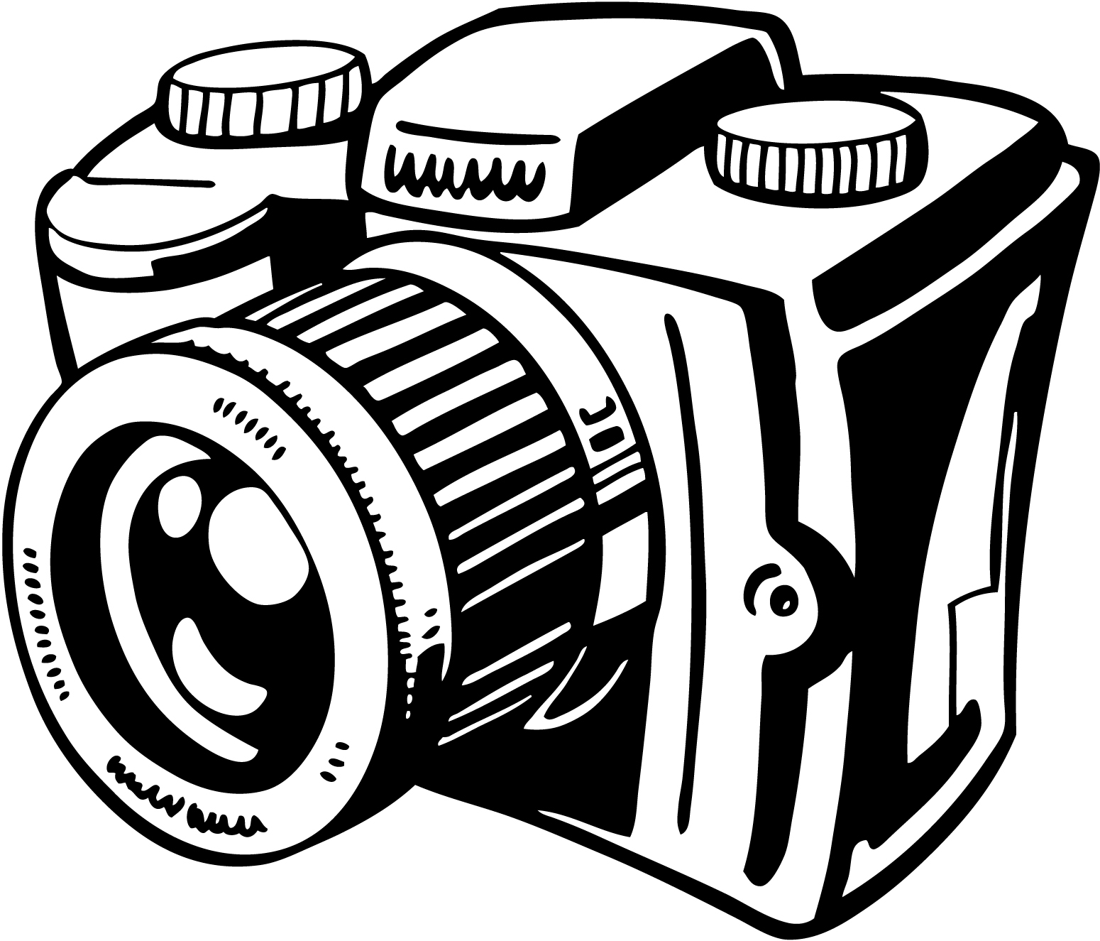 Black and white photography clipart.