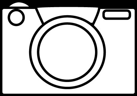 Black and White Camera Clip Art.