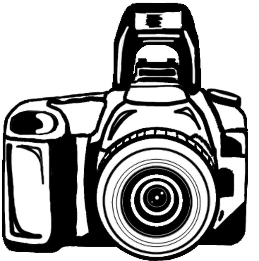 Camera Clipart Black And White.