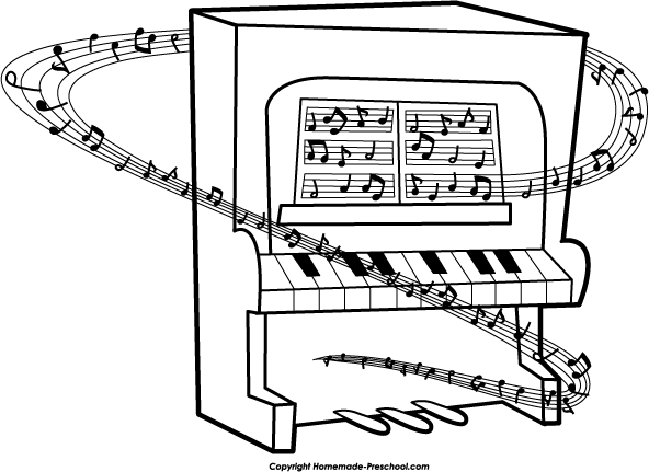 Piano clip art black and white free clipart images.