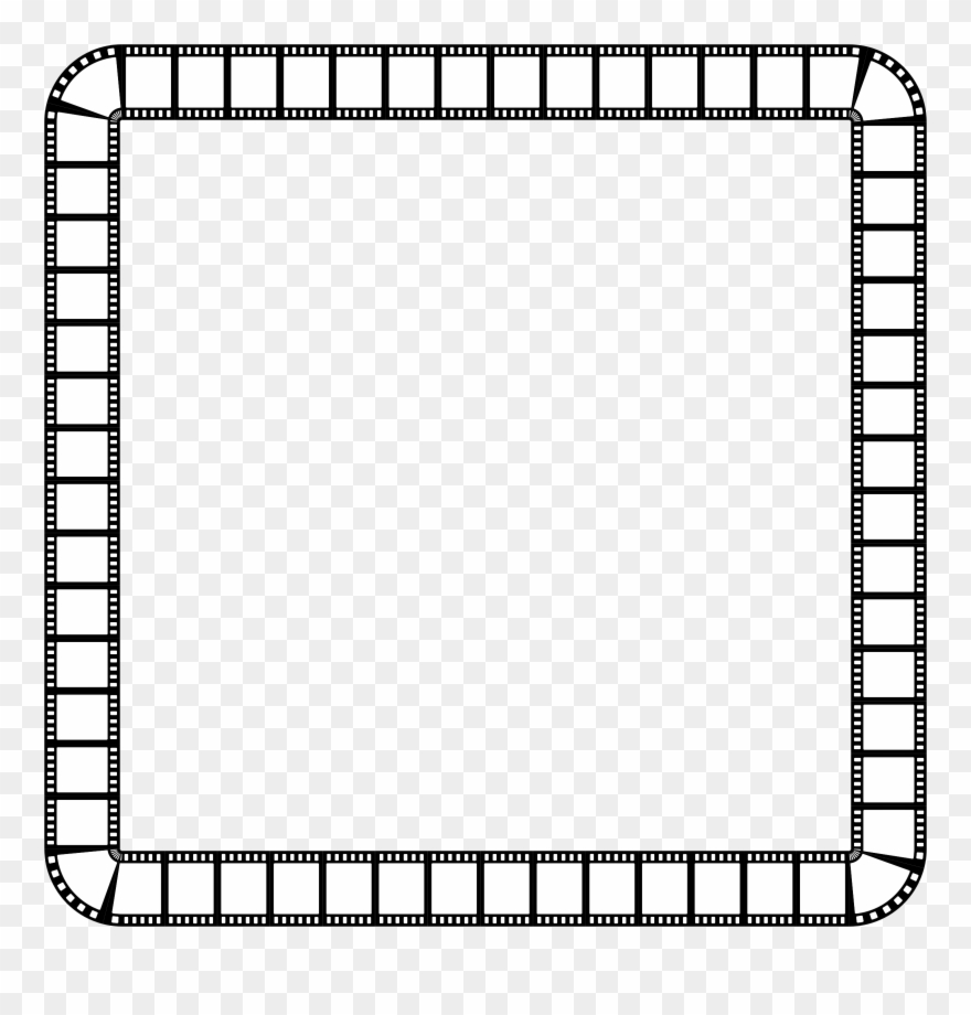Clipart Film Strip Square Frame.