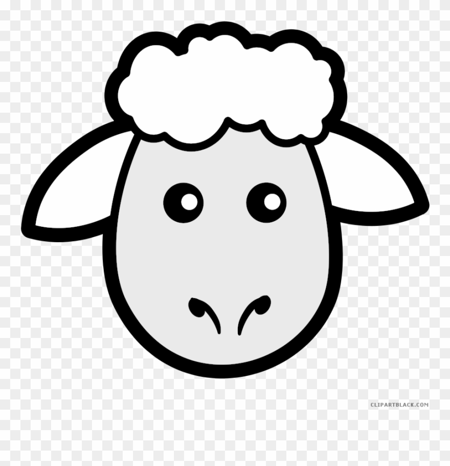 Sheep Animal Free Black White Clipart Images Clipartblack.