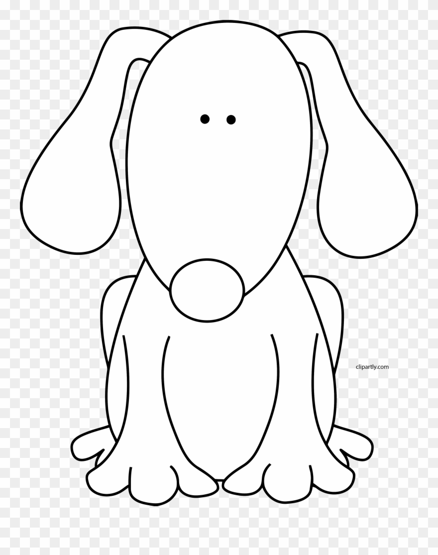 Dog Black White Clipart Png.