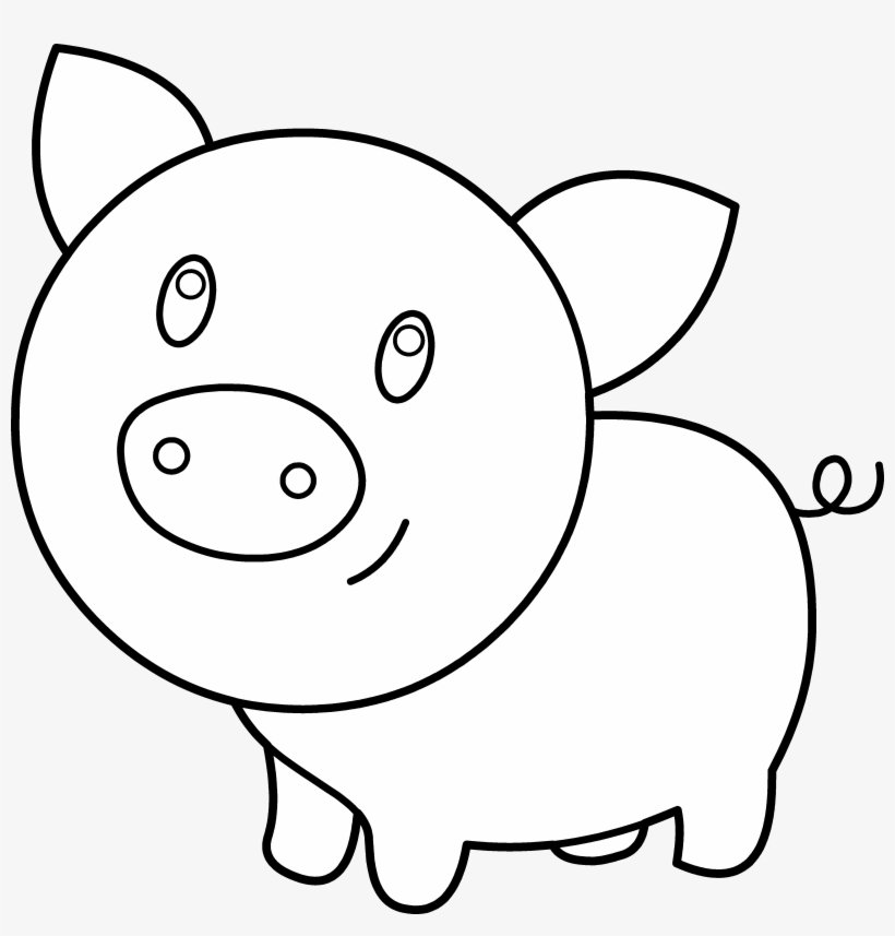 Clipart Pig Template.