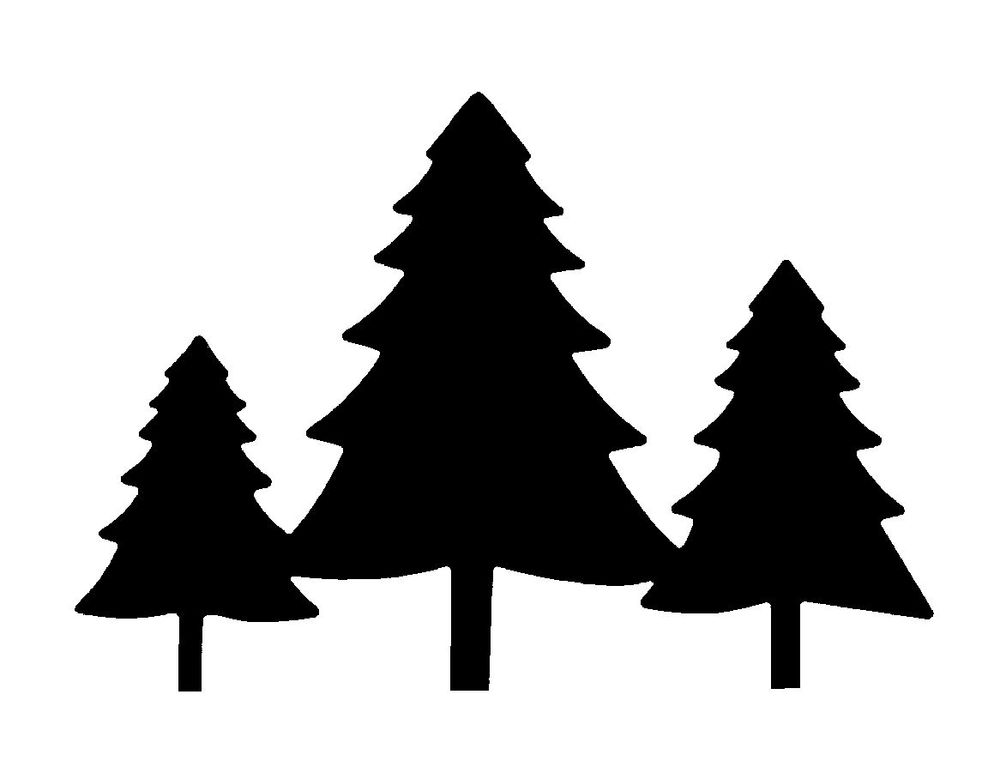 Pine tree clipart three pine pencil and in color tree.
