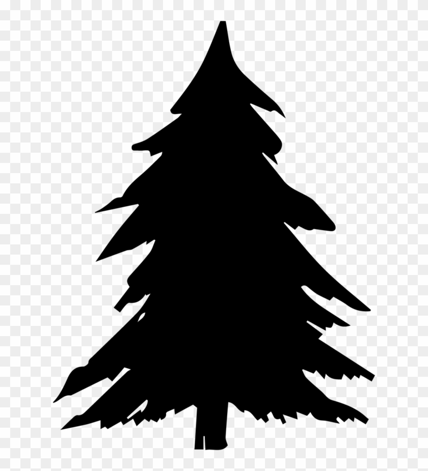 Pine Trees Silhouette Png.