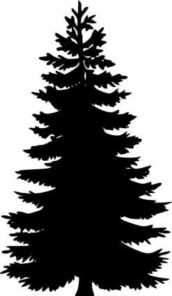 2376 Pine Tree free clipart.