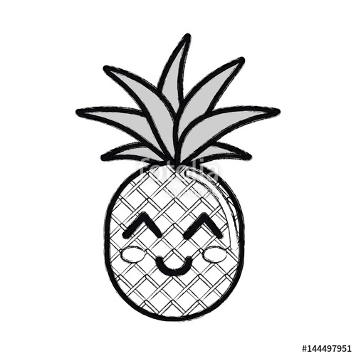 Black and white pineapple clipart 3 » Clipart Station.