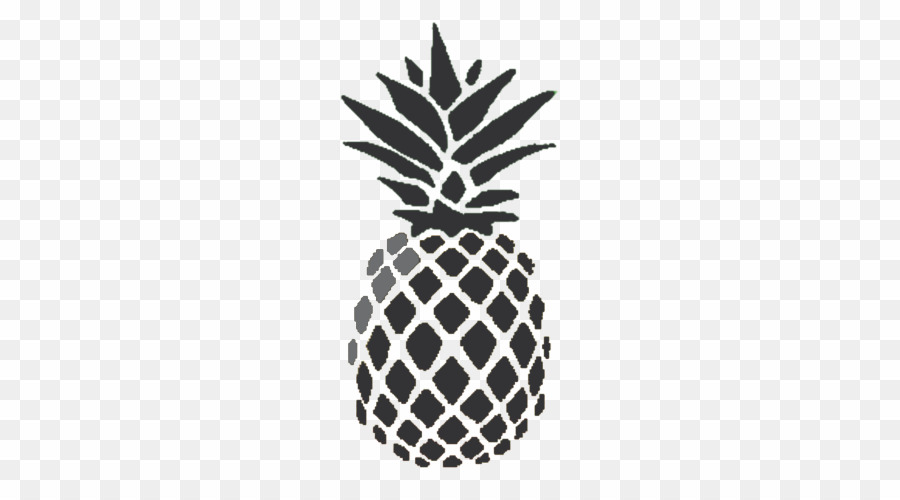 Pineapple PNG Black And White Pineapple Ananas Comosus Clipart.