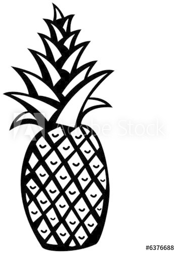 Black and white pineapple clipart 3 » Clipart Portal.
