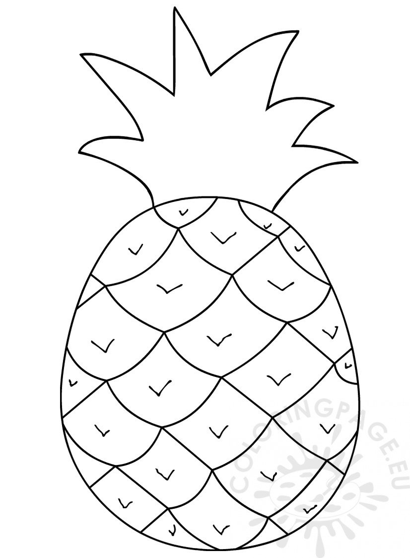 Pineapple clipart black and white.