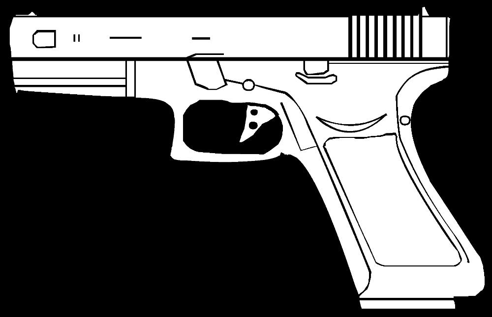 Pistol clipart outline, Pistol outline Transparent FREE for.