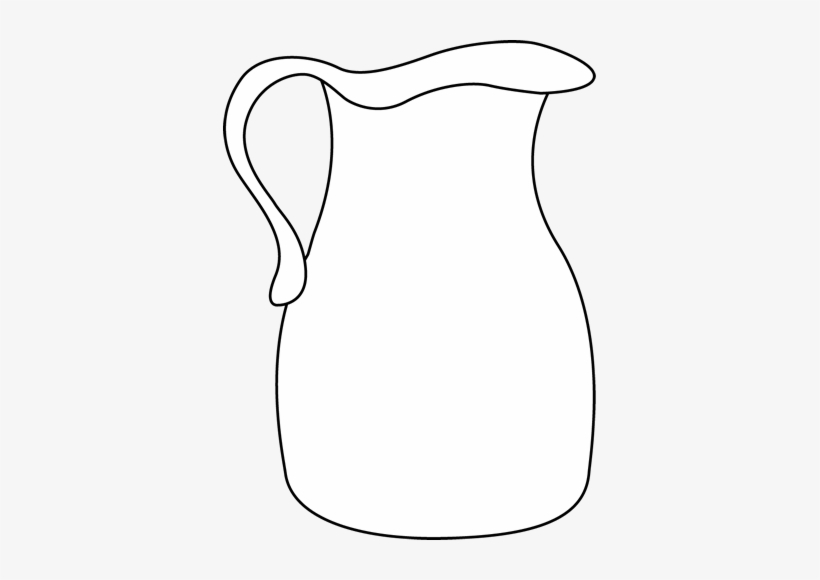 Pitcher Clipart Black And White Transparent PNG.
