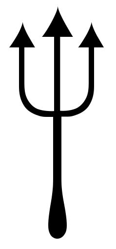 Devil Pitchfork Clipart Black And White.