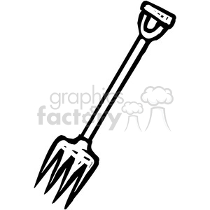black and white pitchfork clipart. Royalty.