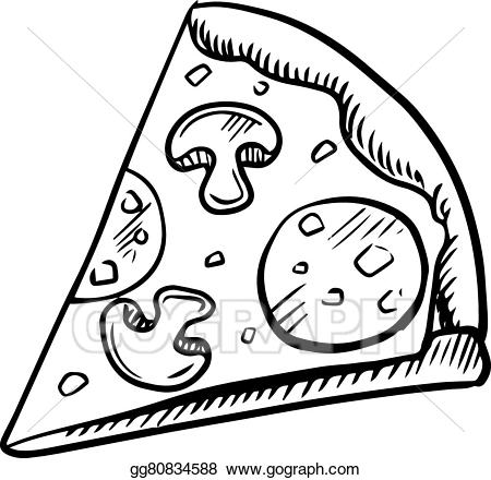 Black and white pizza clipart 5 » Clipart Station.