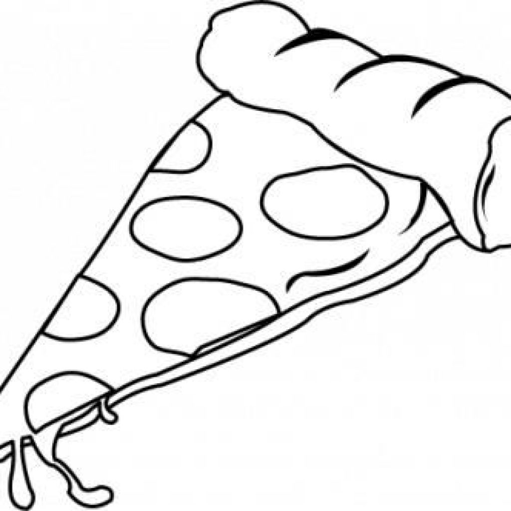 Pizza Drawing Black And White at PaintingValley.com.